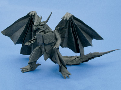 ハート 折り紙:エンシェントドラゴン 折り紙-origamihouse.jp