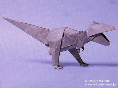 バラ 折り紙:ティラノサウルス 折り紙-origamihouse.jp