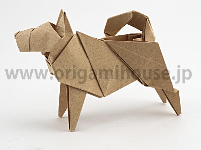 簡単 折り紙 折り紙犬折り方立体 : origamihouse.jp