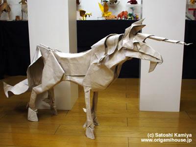 折り紙の:折り紙 ユニコーン 折り方-origamihouse.jp
