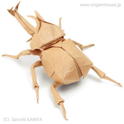 クリスマス 折り紙 折り紙 カブトムシ : origamihouse.jp